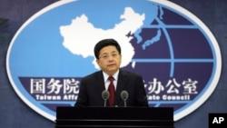 中国国台办发言人马晓光在记者会上(2016年5月25日)