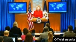 Jen Psaki, juru bicara Departemen Luar Negeri Amerika, Washington, DC, 6 Mei 2014