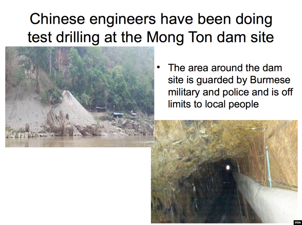 The Mong Ton dam site.