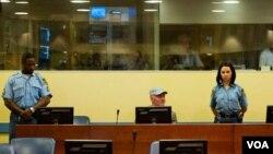 El abogado de oficio que lo asesora había anticipado la semana pasada esta probable reacción de Mladic.