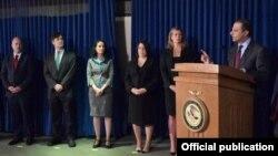 Tim jaksa Manhattan, AS, mengumumkan dakwaan terhadap polisi Honduras dalam kasus narkoba.