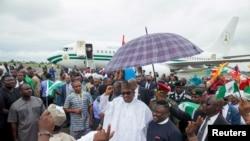 Le président nigérien Muhammadu Buhari à Calabar, Nigeria, le 20 octobre 2015. (REUTERS/Stringer/Files)