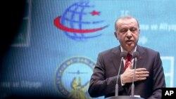 Presiden Turki, Recep Tayyip Erdogan di Istanbul, 29 Oktober 2018.