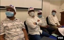 Miembros del Partido de Restauración Democrática (PRD) de Nicaragua durante una conferencia de prensa. Foto Daliana Ocaña, VOA.