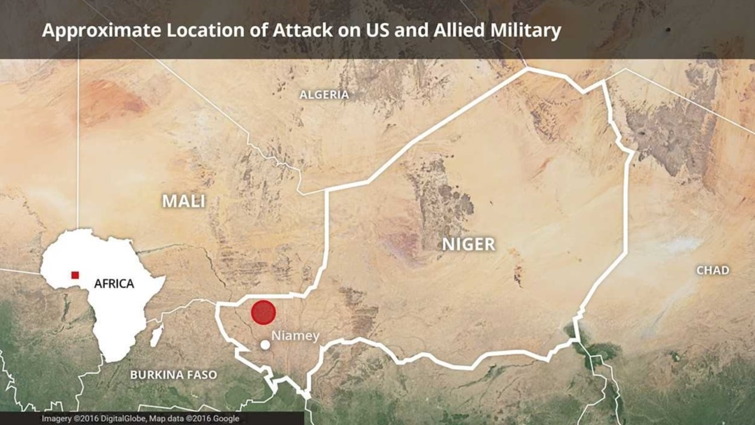 US Military Confirms Death Of Soldiers In Niger - Maps where jhadist are lockated in us