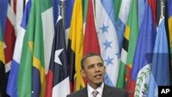 President Barack Obama speaks at the La Moneda Palace in Santiago, Chile, March 21, 2011