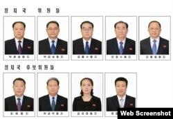 북한이 7일 노동당 제7기 2차 전원회의에서 발표한 정치국 위원과 후보위원 명단을 노동신문 3면에 게재했다.