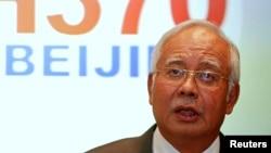 馬來西亞總理納吉布‧拉扎克在3月15日的記者會上