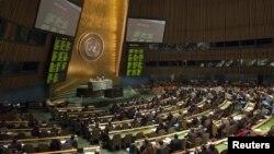Suasana sidang Majelis Umum PBB di Markas Besar PBB, New York (Foto: dok). Majelis Umum PBB akan melakukan pemungutan suara untuk memberi dukungan pada Resolusi usulan Saudi untuk Suriah, Jum'at (3/8).