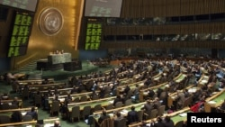 Suasana sidang umum PBB di kantor pusat PBB di New York (Foto: dok). Beberapa negara Eropa menyatakan mendukung upaya Palestina meningkatkan statusnya di PBB.