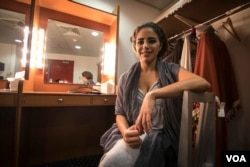 Soprano Lara Jokhadar plays Abla, a princess who falls for Abla, a slave. (Photo: John Owens for VOA)