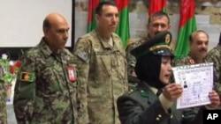 صدها زن در اردوی ملی افغانستان