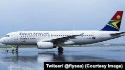 Un avion de SAA, 19 août 2017. (Twiteer/ @flysaa)