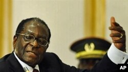 Zimbabwean president Robert Mugabe delivers a speech ( Aug 2010 file photo)