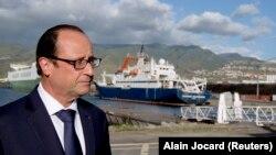 Francois Hollande son açıklamasını Hint Okyanusu'ndaki Reunion Adaları'nda yaptı