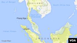 Phang Nga, Thailand, and Langsa, Indonesia
