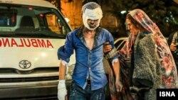 یکی از مصدومان حوادث چهارشنبه سوری در تهران