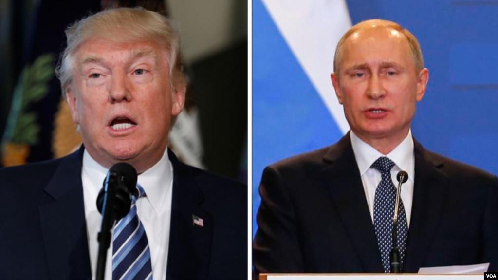 도널드 트럼프 미국 대통령(왼쪽)과 블라디미르 푸틴 러시아 대통령.