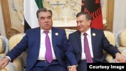 Emomali Rahmon va Shavkat Mirziyoyev, Saudiya Arabistoni, Riyod, 21-may, 2017