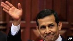 奥利安塔.胡马拉宣誓就任秘鲁新总统