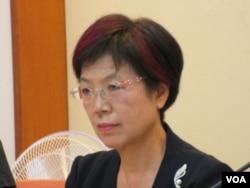 台湾民进党立委尤美女 (美国之音张永泰拍摄)