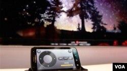 Con el Motorola Atrix puedes proyectar videos en alta definición en practicamente cualquier superficia plana.
