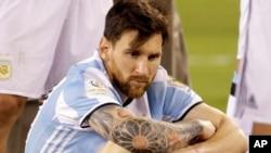 Lionel Messi lors de la Copa America