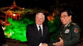 2011年1月中国军委副主席徐才厚在北京钓鱼台国宾馆会见美国国防部长盖茨