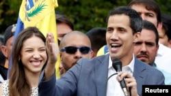 委内瑞拉反对派领导人胡安·瓜伊多(Juan Guaido)发表讲话(2019年1月26日)