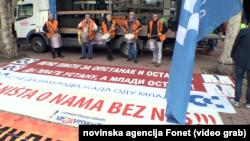 SSSS i UGS Nezavisnost zajednički su organizovali prvomajski protest u Beogradu, Foto: video grab