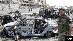 Poprište samoubilačkog napada u glavnom gradu Sirije, Damasku, u kojem je poginulo 55 i ranjeno 370 osoba