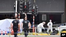 Слідчі на місці вбивства поліцейських у бельгійському місті Льєж