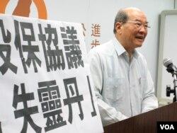 台湾台联党主席黄昆辉 (美国之音张永泰拍摄)