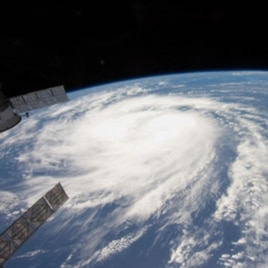 Katia was a tropical storm gathering force over the Atlantic Ocean in this photo from the International Space Station on August 31