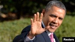 Президент США Барак Обама. Белый дом. Вашингтон. 24 ноября 2013 г.