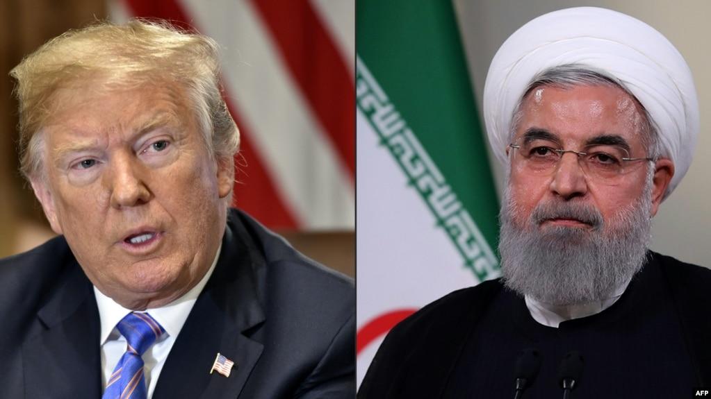 Tổng thống Hoa Kỳ Donald Trump và Tổng thống Iran Hassan Rouhani.