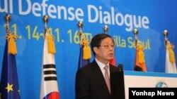 15일 서울에서 열린 '제1회 서울안보대화(SDD)' 개회식에서 김황식 국무 총리.