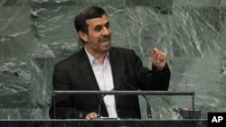 26일 유엔총회 연설에서 마무드 아마디네자드 이란 대통령.