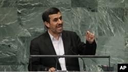 Le président Ahmadinejad