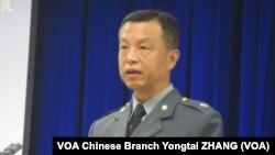 台灣國防部發言人陳中吉少將 (攝影:美國之音張永泰)