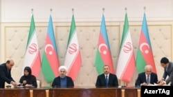 İran prezidenti Həsən Ruhaninin Azərbaycana rəsmi səfəri çərçivəsində ik ölkə arasında 6 sənəd imzalanıb.