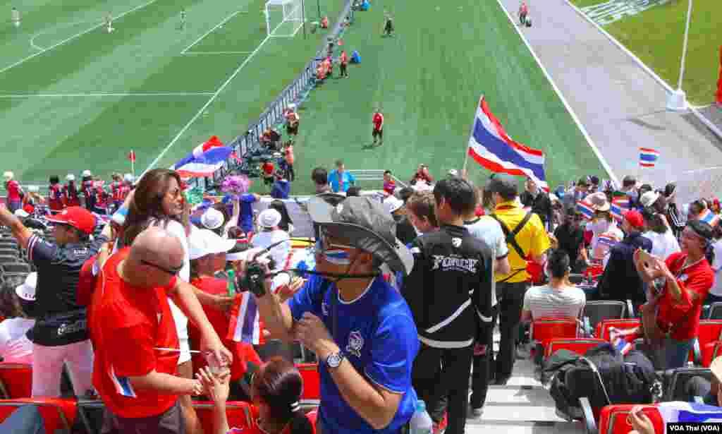 Thai Football fans in Ottawa