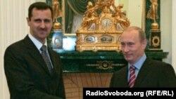 Rusiya prezidenti Vladimir Putin və Suriya prezidenti Bəşər Əl-Əsəd
