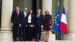 Macron Hariri ve Ailesini Elysse Sarayı'nda Ağırladı