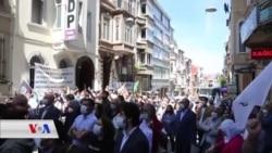 HDPê li Stenbolê Dûrxistina Du Parlematerê xwe ji Parlemana Tirkiyê Şermezar Dike