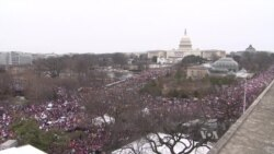 Half a Million Marchers Rally in DC Against President Trump