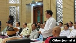 Peace agreement in Myanmar