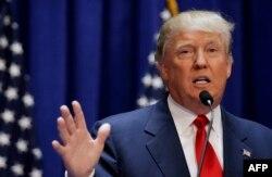Donald Tramp 16-iyun kuni Nyu-Yorkda so'zlamoqda
