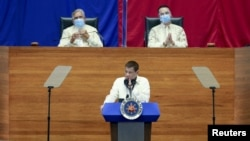TT Philippines Rodrigo Duterte phát biểu trước quốc dân hôm 27/7/2020.