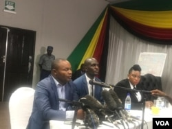 Shadreck Mashayamombe appearing before the Kgalema Motlante Commission of Inquiry Wednesday in Harare.